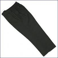 Boys Half Elastic Black Pull Up Trousers