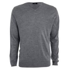 Grey Cotton V-Neck Jumper (Boys)