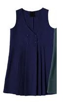 Navy Button up Pinafore